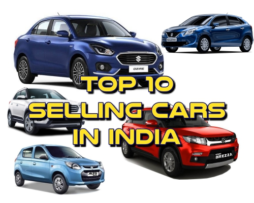 top 10 selling cars in india